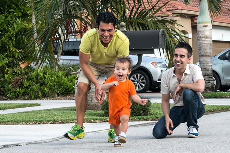an image of a family playing